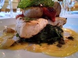 Its warm here at Jacksons, so stop in for lunch! We are open 11-2 today. Our Catch of the Day is grilled Mediterranean style Mahi Mahi served with a white balsamic and saffron butter sauce, chippollini onions, roasted Roma tomatoes, capers and garlic and fried basil.  #jacksonsrestaurant #joinus #CatchoftheDay