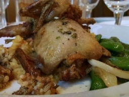 Happy hump day downtown Pensacola! Come join us here at Jackson's for our delicious lunch features as well as the half price bottles of wine from our Governors list! Today, the Business Feature is boudin stuffed quail topped with garlic and scallion butter. This is served alongside sauteed sugar snap peas, onions, and saffron rice and there is beet puree on the plate.  #joinus #downtownpensacola #BusinessFeature #winedownwednesday #jacksonsrestaurant