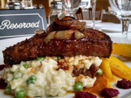 Good morning Downtown Pensacola. Stop by and try the lunch features prepared for today! We are open 11-2. The Business Feature is a Black and Blue. This includes blackened prime rib served with a blue cheese and English pea risotto, grilled rainbow carrots, some beet puree on the plate and toped with grilled onions.  #downtownPensacola #jacksonsrestaurant #joinus #BusinessFeature