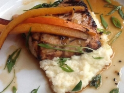 Check out the fresh catch of the day! Today chef has prepared grilled mahi-mahi in a Tamari ginger mirin over white rice grits and sautéed spinach, topped with sautéed carrots and scallions. Come by today from 11:00-2:00 to get this delicious feature! #jacksonsrestaurant #downtownpensacola