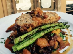 Good morning Downtown Pensacola! It's a beautiful day for lunch to try the special! Chef's special today is meatloaf over butternut-mustard green hash, with a pear-apricot mostarda and grilled asparagus.  #VISITFLORIDA #VisitPensacola #downtownpensacola #JacksonsRestaurant #lovefl
