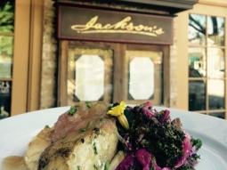 Good morning! It's a perfect day to spend in #downtownpensacola .  Join us for lunch today! Chef has prepared a delicious catch of the day: Herb marinated, pan seared Mahi-Mahi, rice grits, champagne vinegar sautéed red kale, & green tomato, red onion marmalade.  #VisitPensacola #VISITFLORIDA