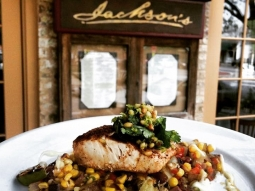 Good morning, #downtownpensacola ! Mahi-Mahi is the star of our fresh catch of the day lunch special. Stop in for lunch and enjoy a free martini on us! #jacksonsrestaurant #sogodistrict