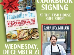 Stop by @fishhousepensacola gift shop today from 11-1 today for Chef Irv Miller's cookbook signing! A great last minute gift to give your family and friends a taste of the gulf coast!